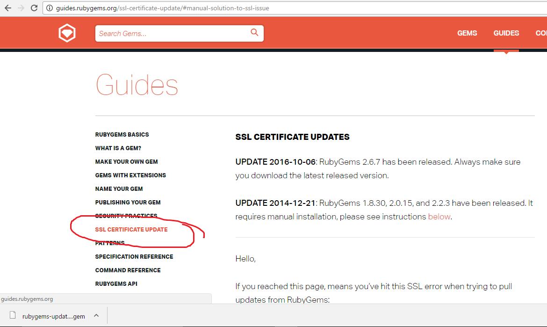 Ssl error on ruby gems archives proactive blog ssl certificate update xflitez Image collections